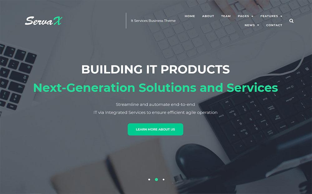 ServaX - IT Services Business WordPress Theme