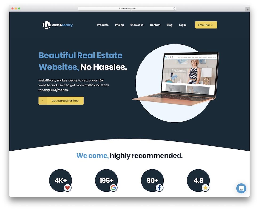 web4realty real estate website builder