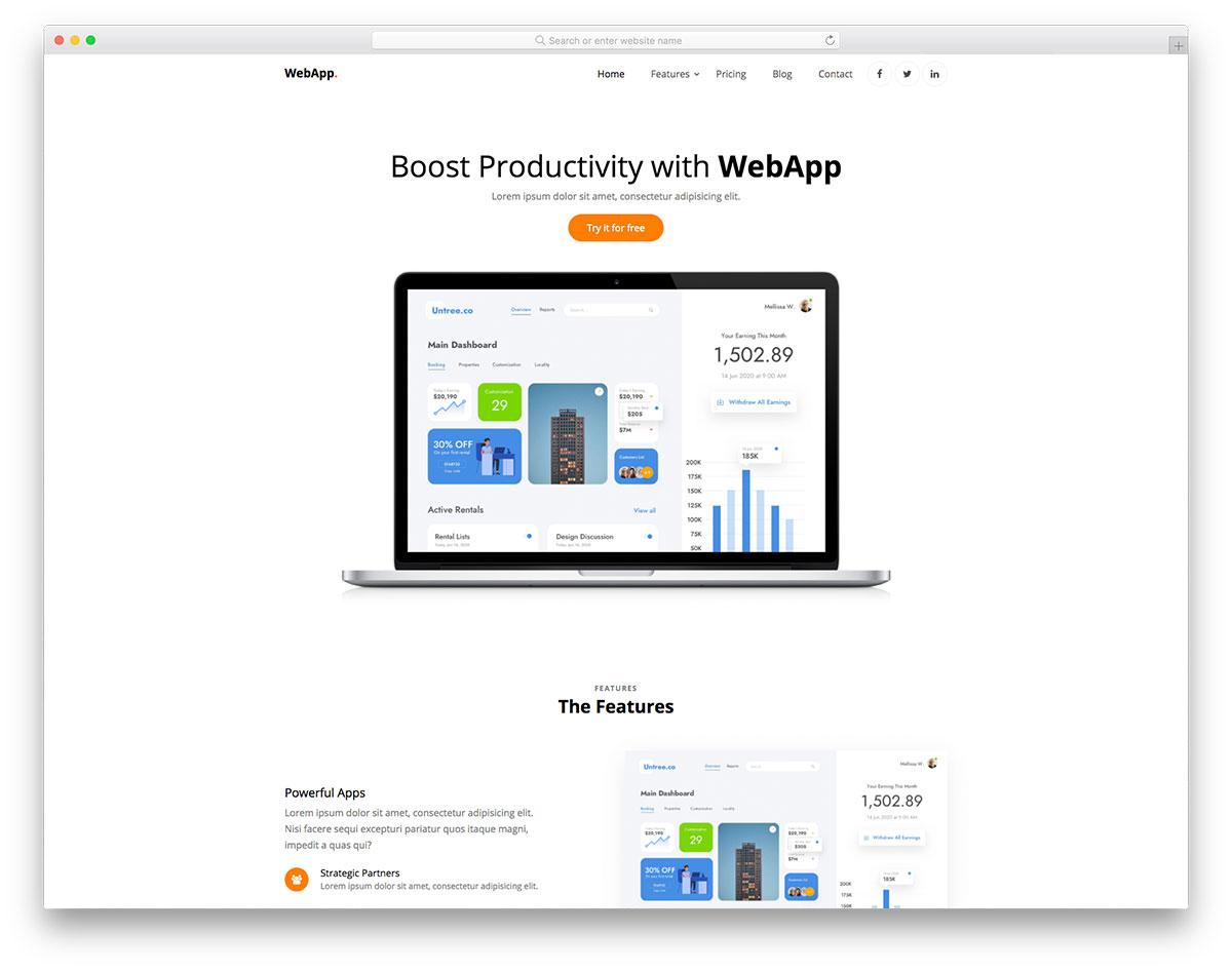 WebApp Free Template