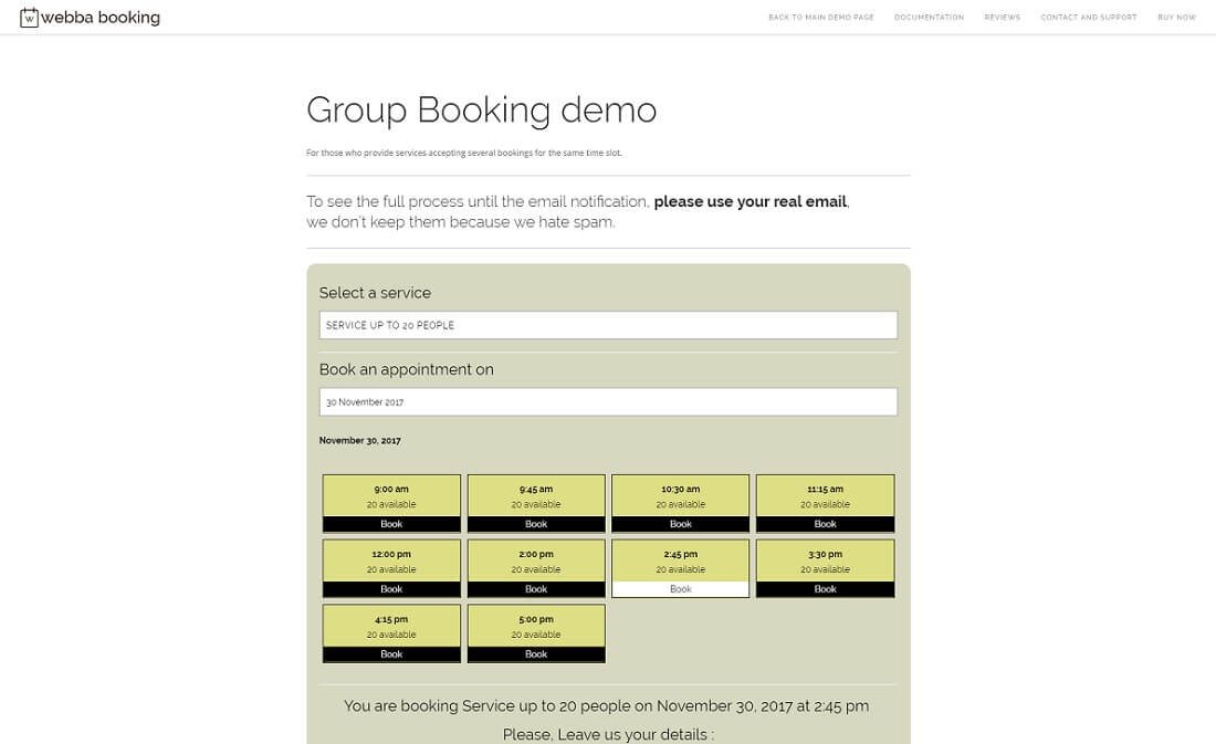 webba booking appointment booking for wordpress