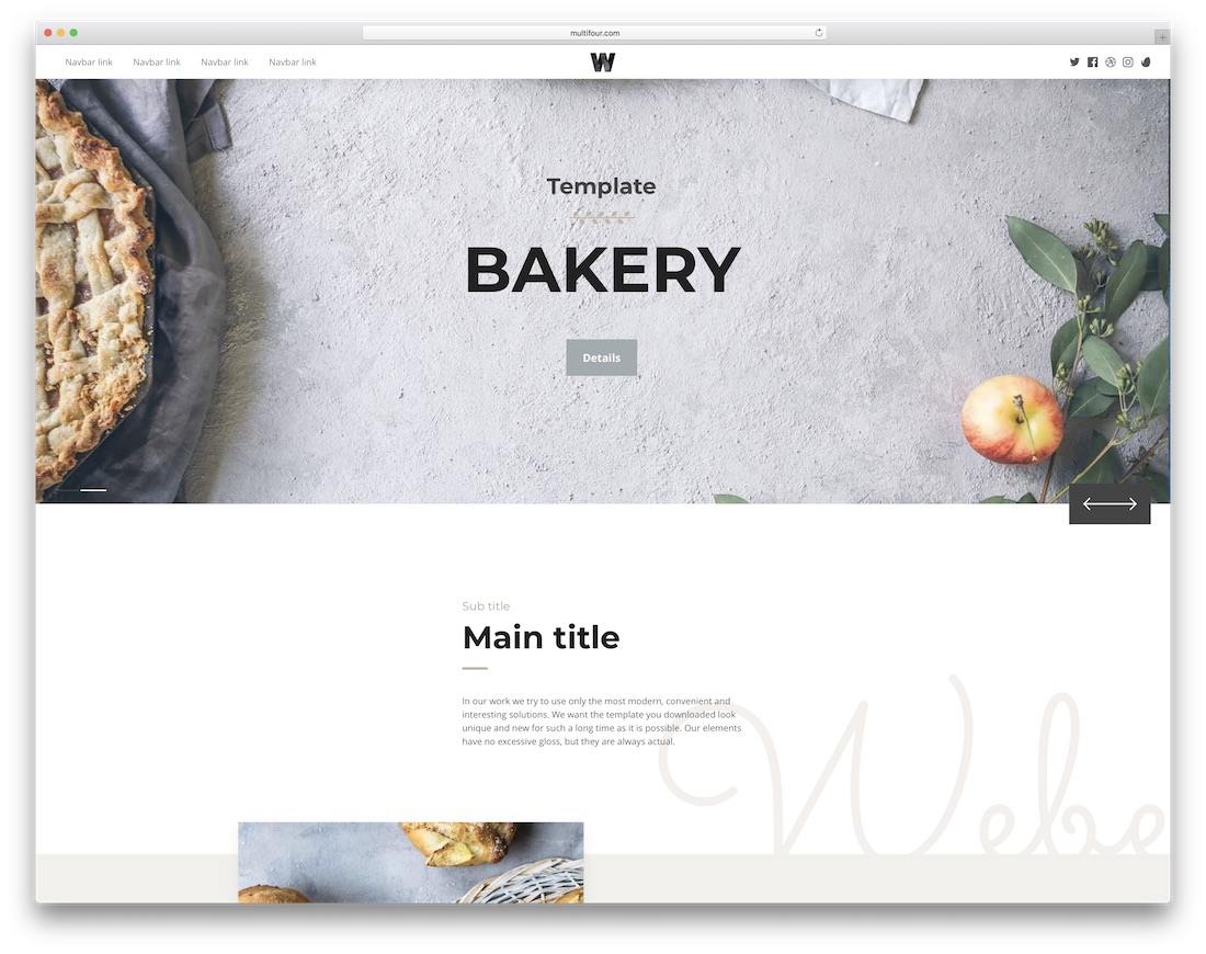 weber interactive website template