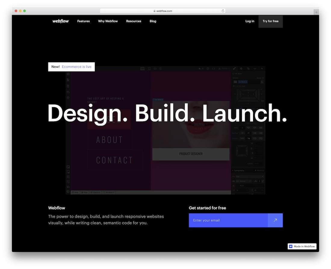webflow community website builder