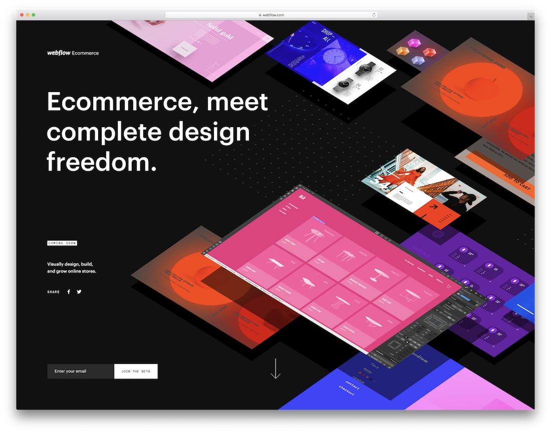 webflow online store builder