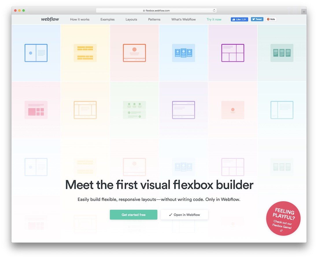 webflow web design tool