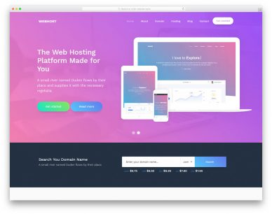 Webhost Free Template