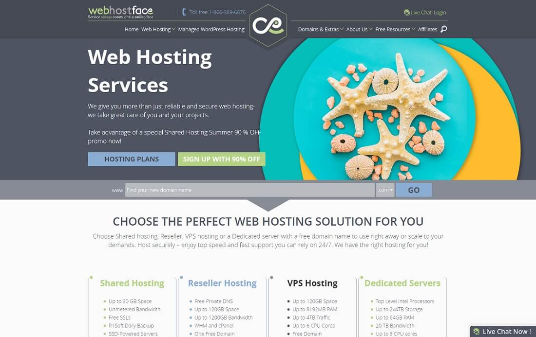 webhostface multiple domain hosting