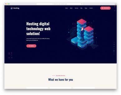 WebHostingService Free Template