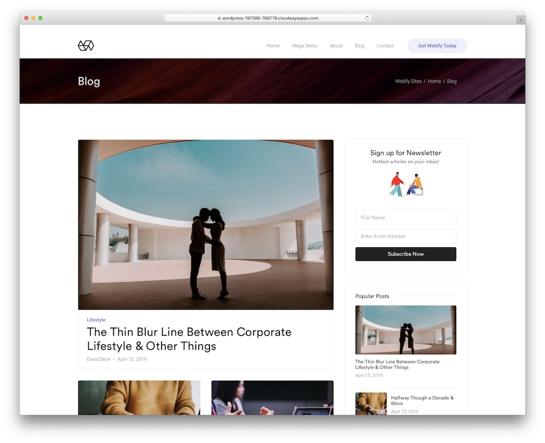 webify affiliate wordpress theme