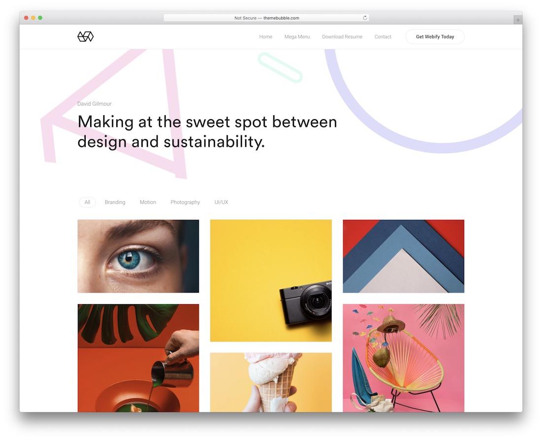 webify beautiful wordpress theme