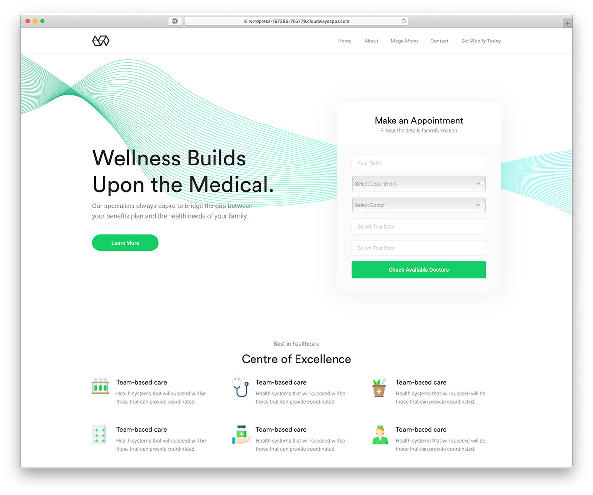 Webify - doctor appointment booking theme