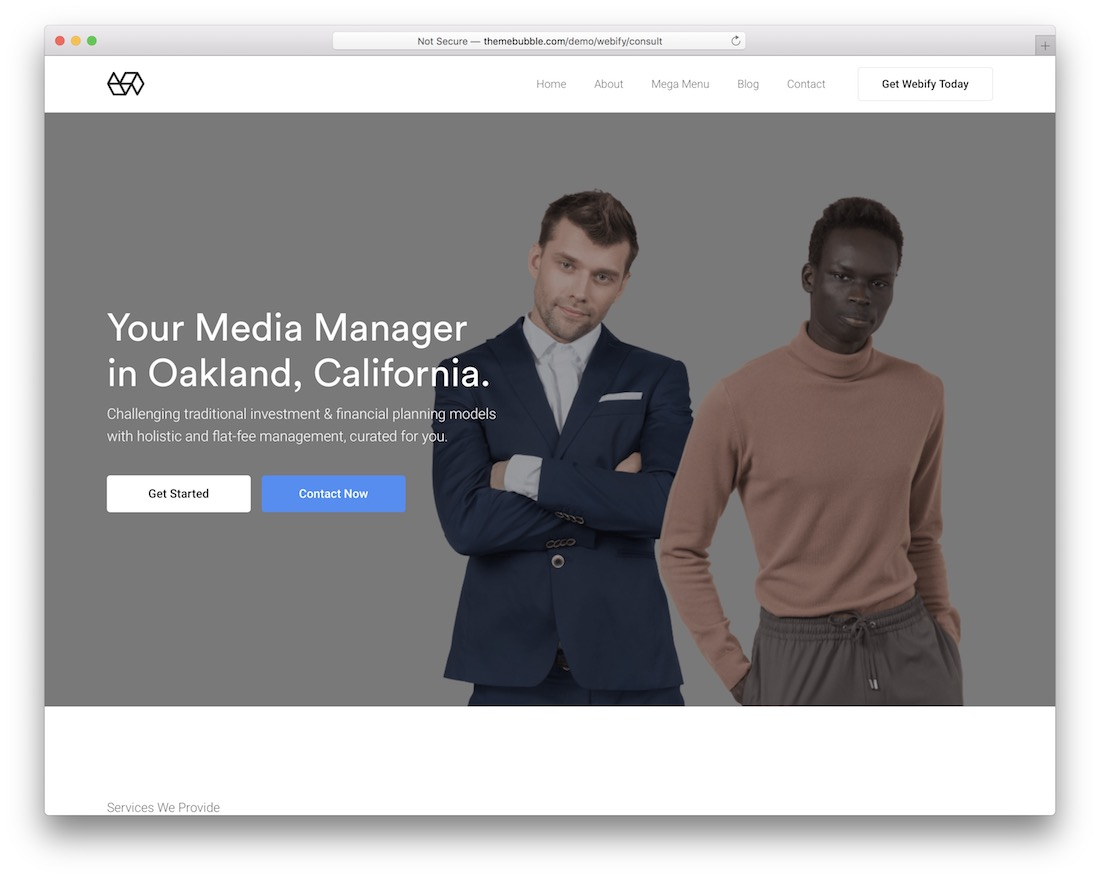 webify bootstrap business website template