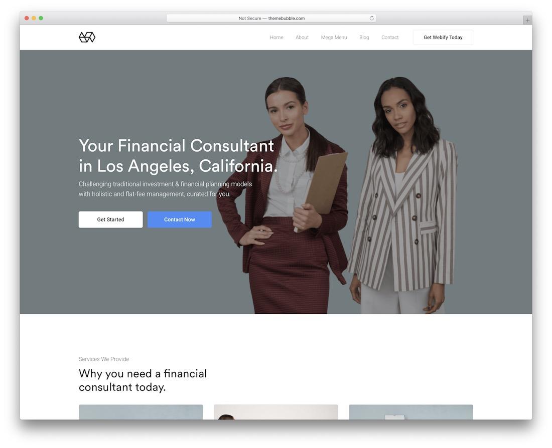 webify business website template