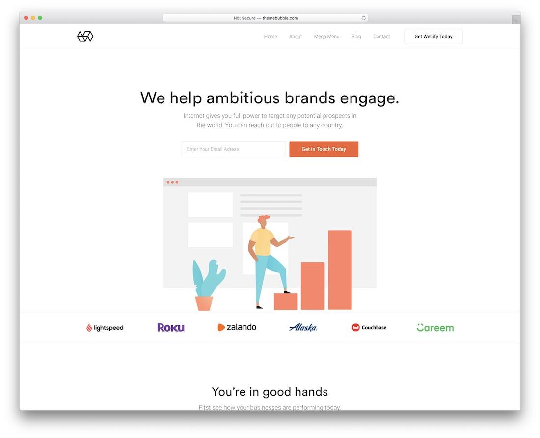 webify colorful wordpress theme
