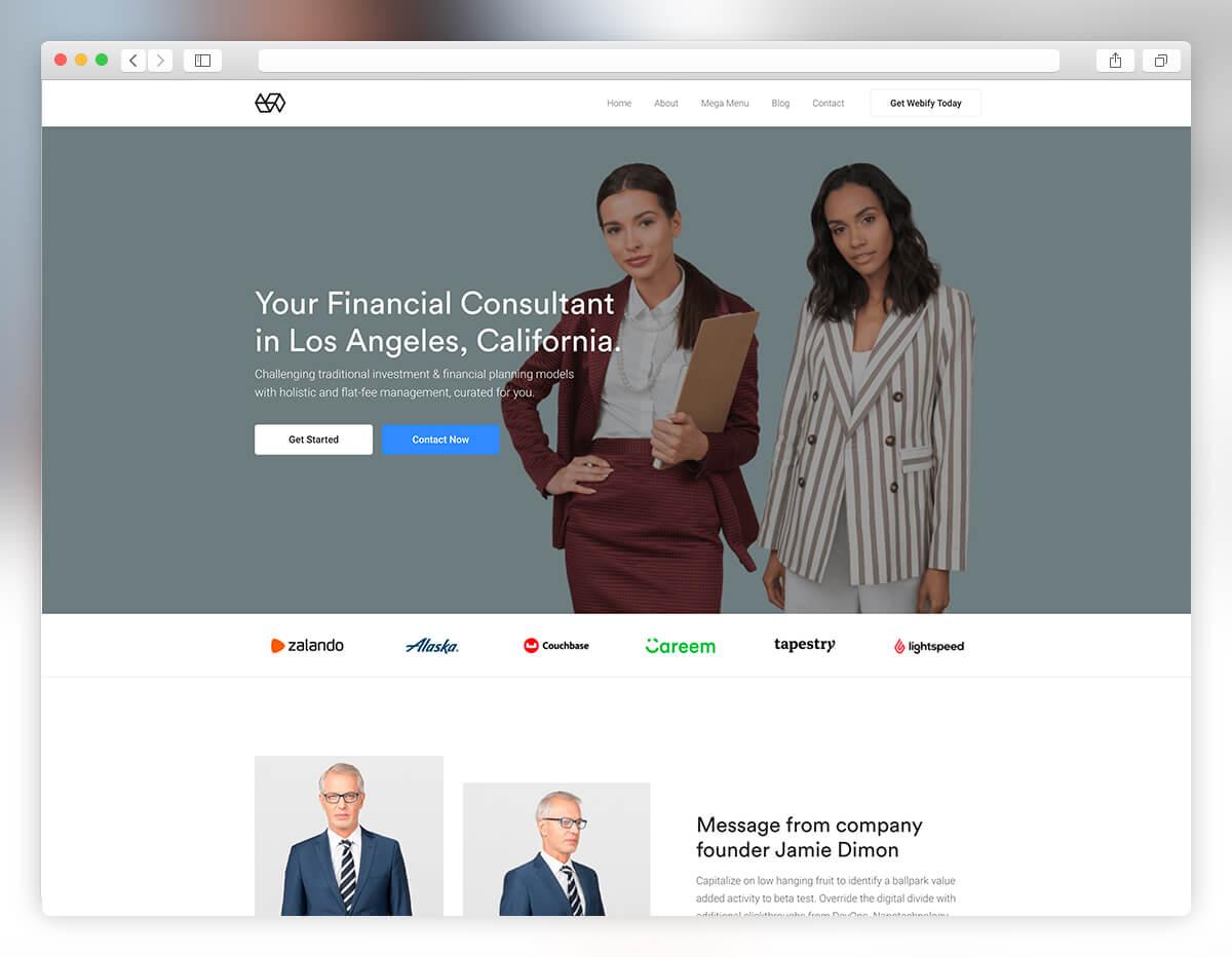 webify corporate small business wordpress theme