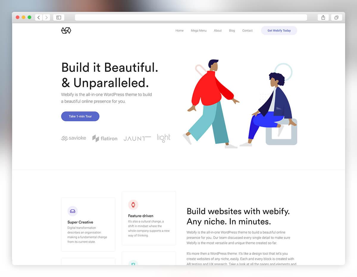 minimal digital agency web design
