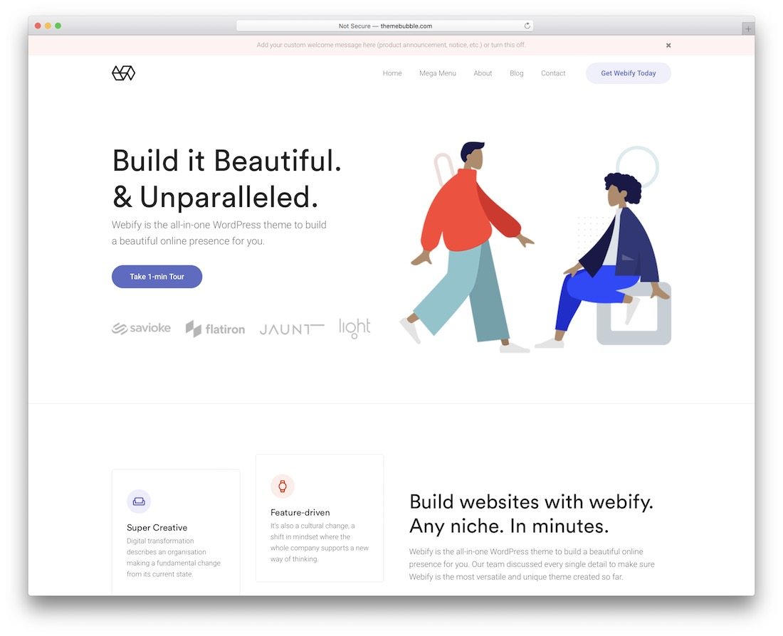 webify creative website template