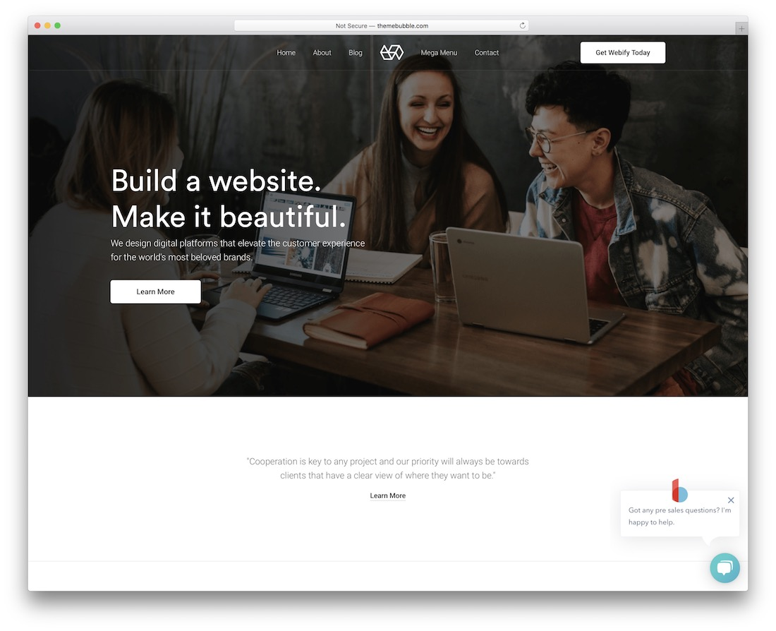 webify digital agency wordpress theme