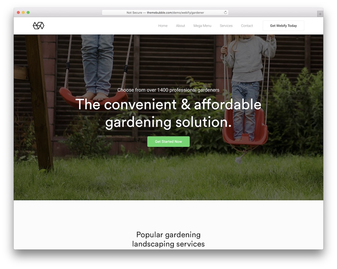 webify farming wordpress theme