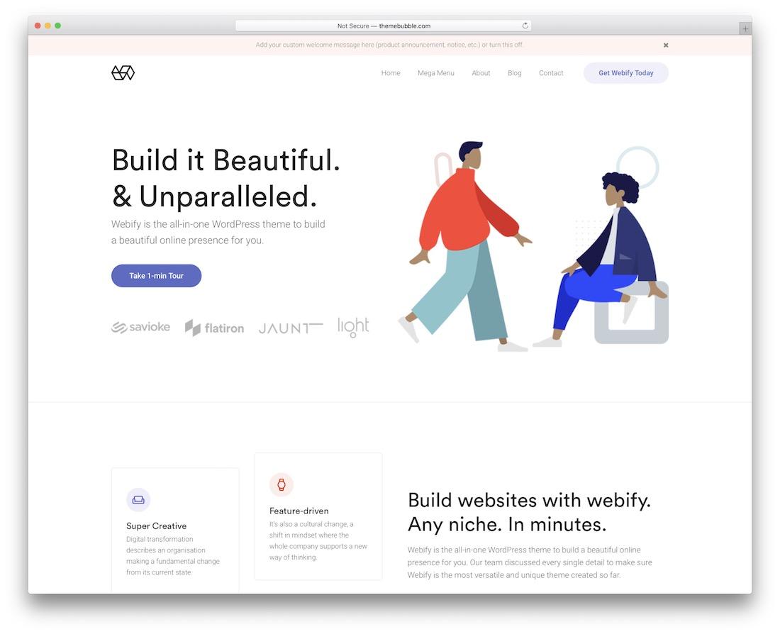webify flat design template