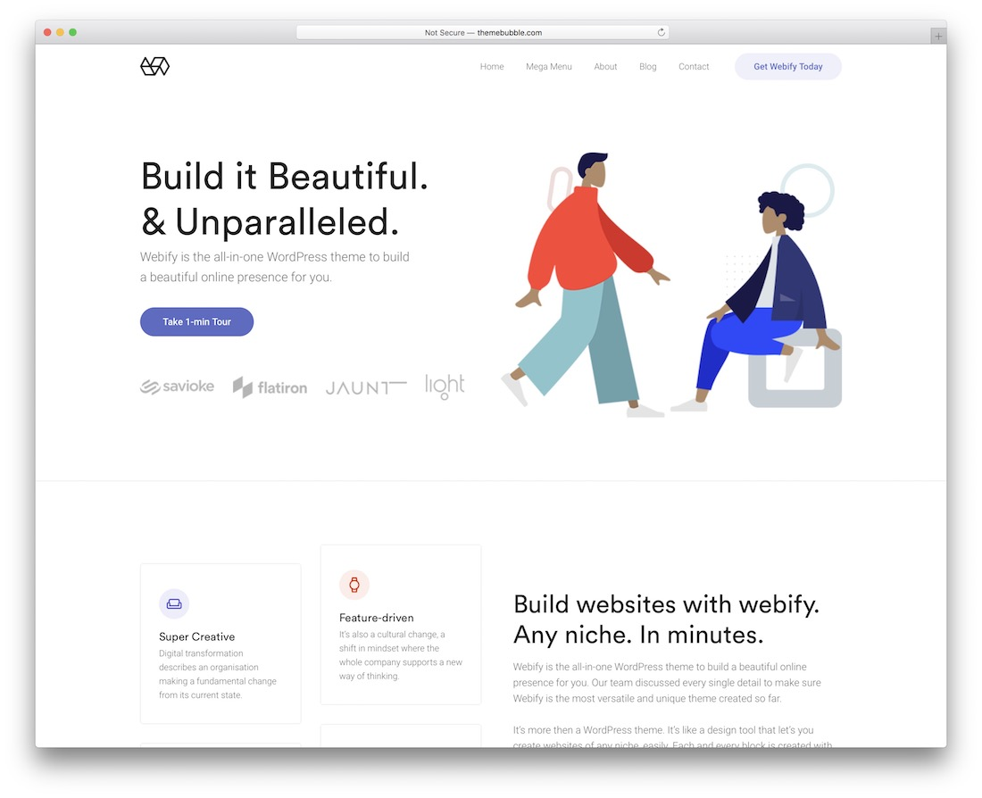 webify flat design wordpress theme