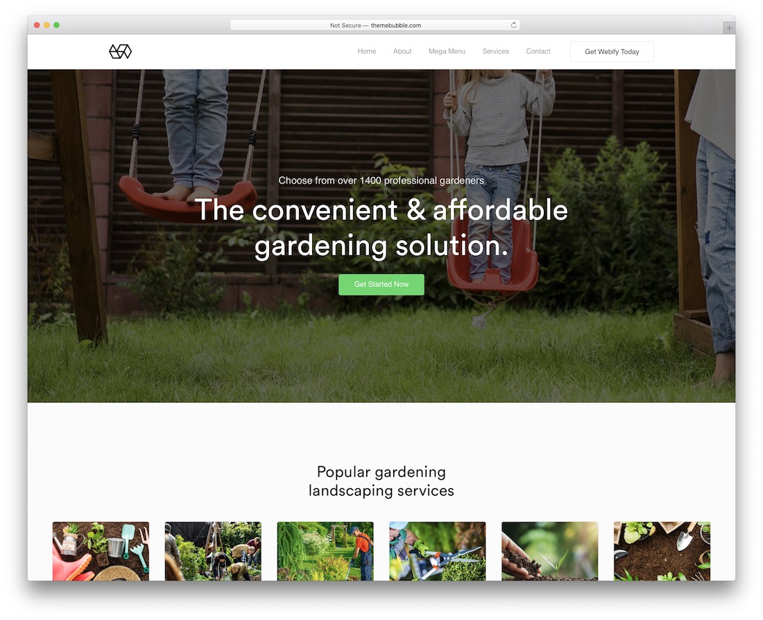 webify green eco friendly wordpress theme