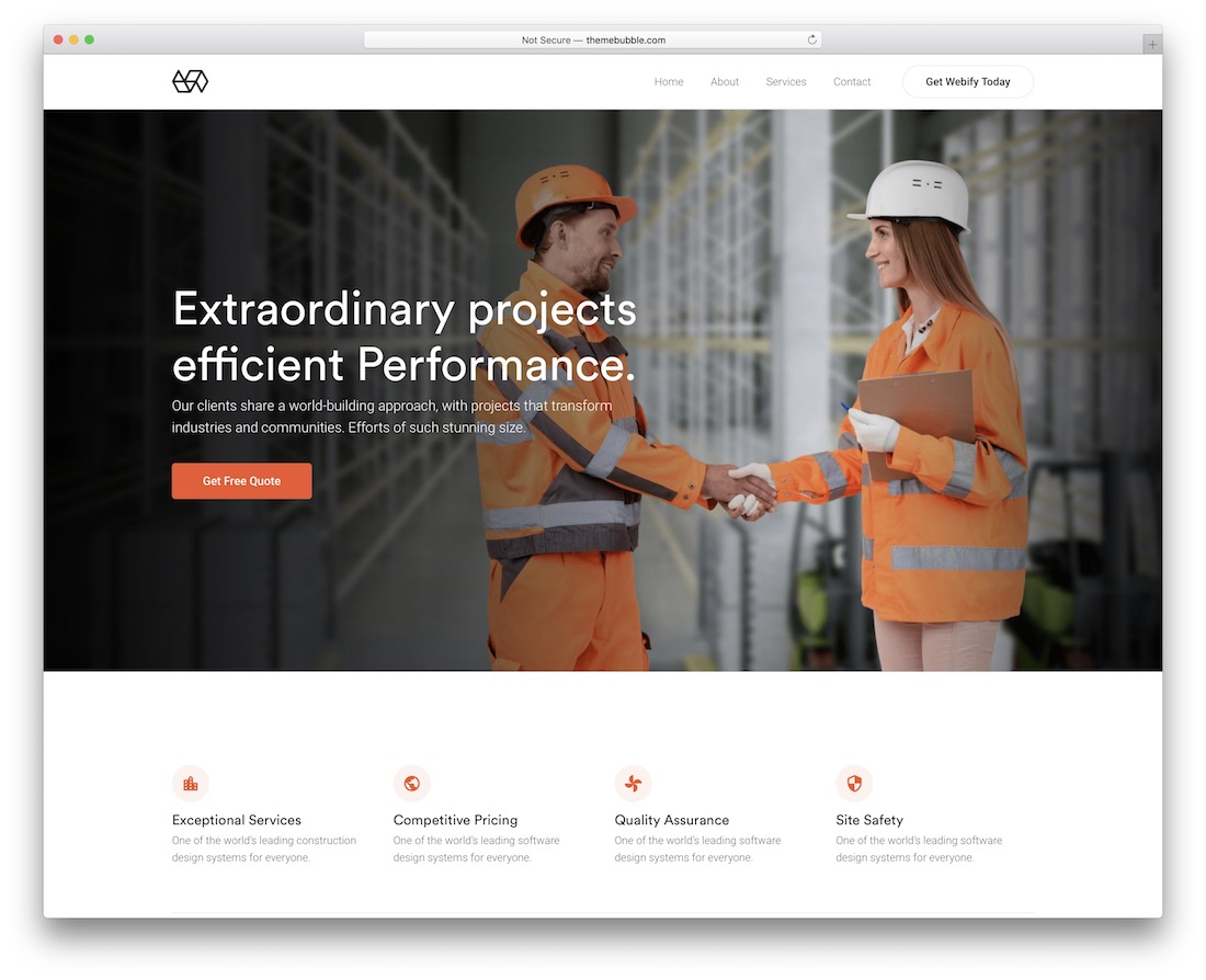 webify industrial wordpress theme