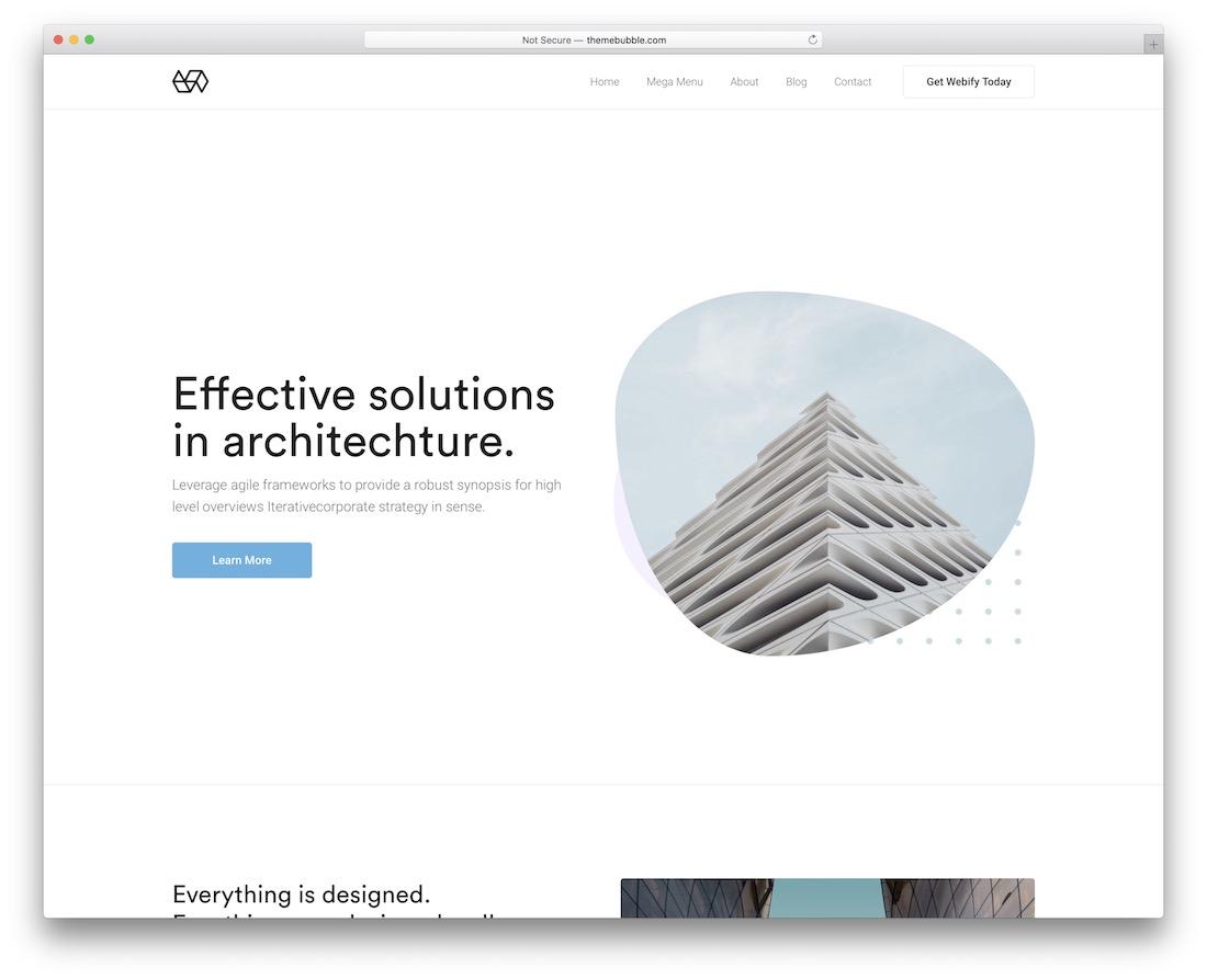 webify interior design wordpress theme