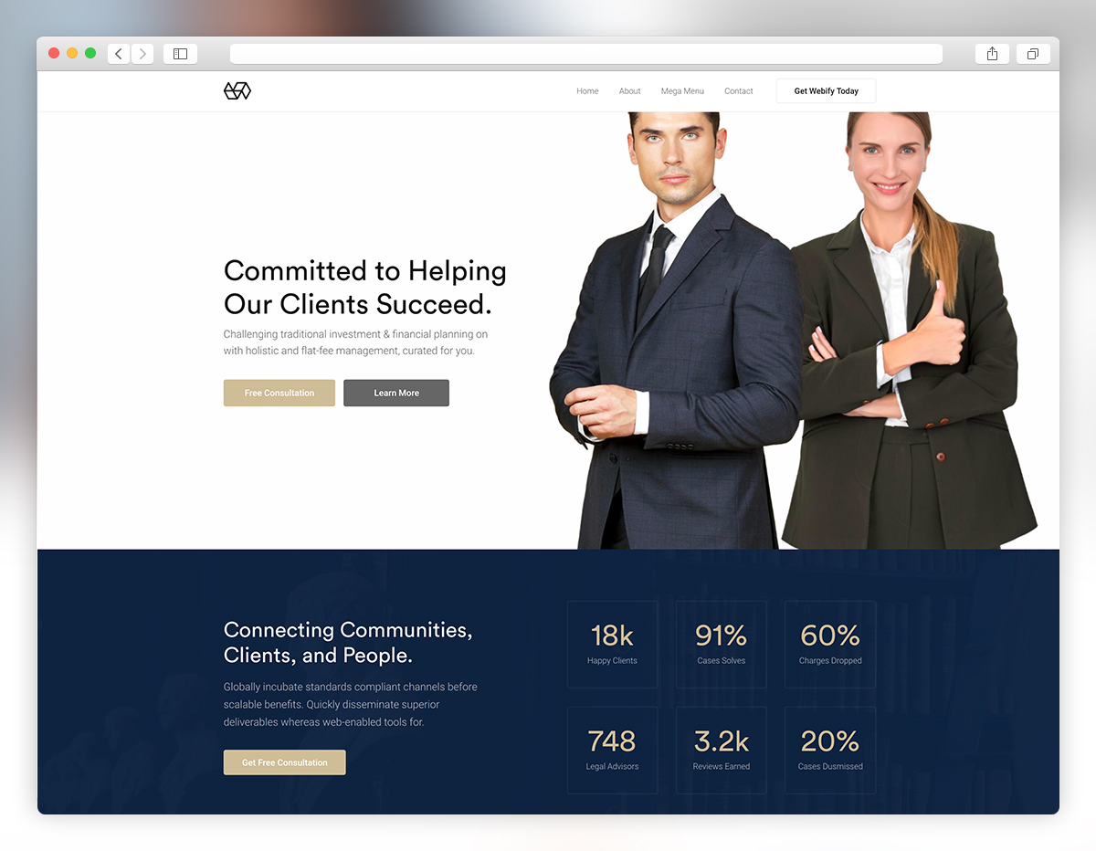 webify lawyer wordpress theme