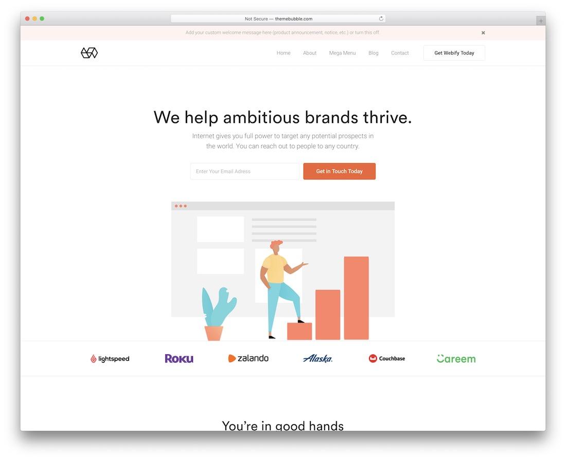 webify marketing website template