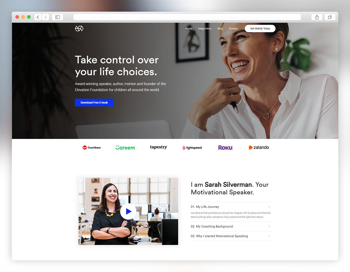 Webify - speaker WordPress theme