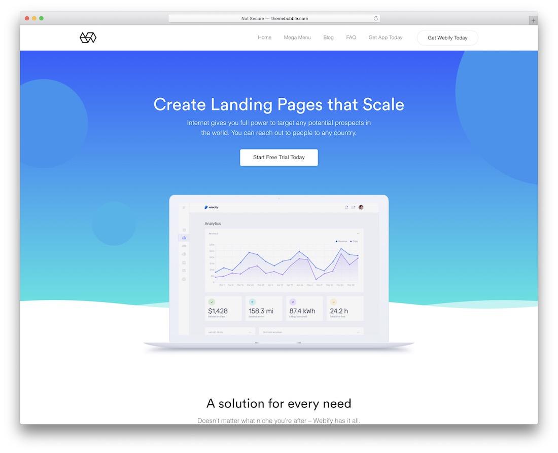 webify professional wordpress theme