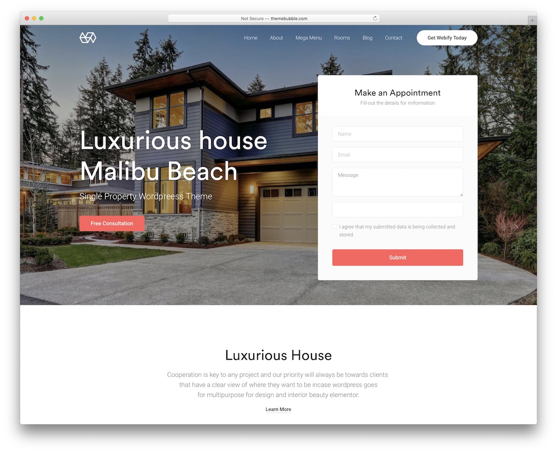 webify real estate wordpress theme