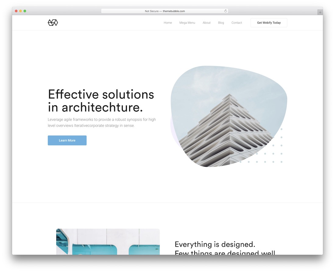 webify simple bootstrap template