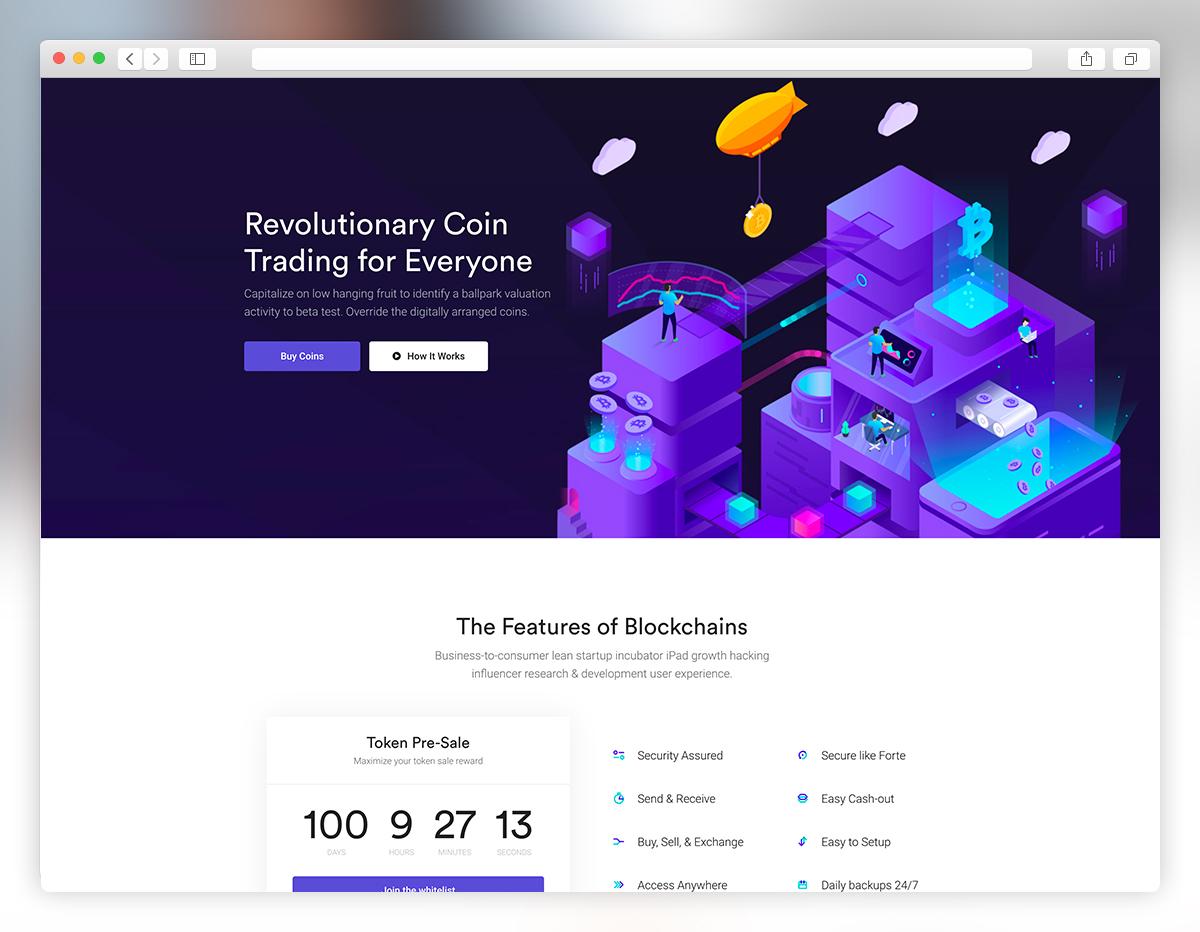 35 Best Responsive Cryptocurrency Website Templates 2019