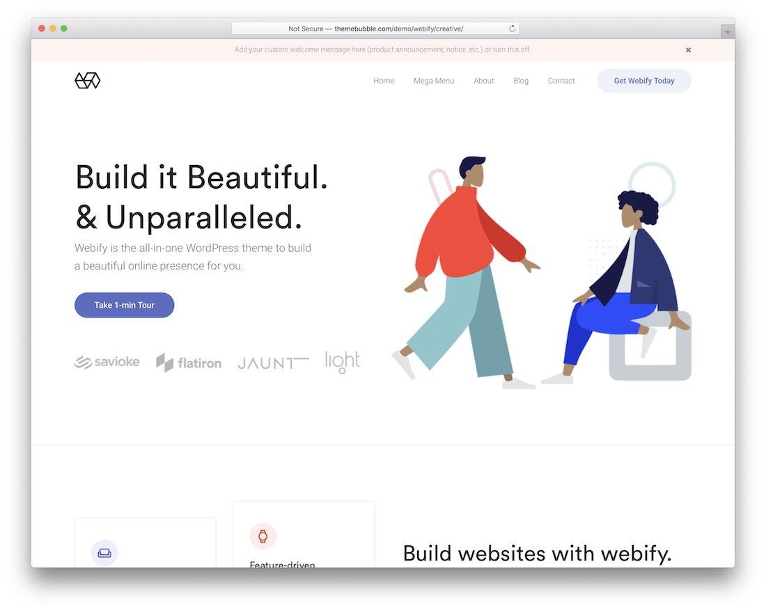 webify simple website template