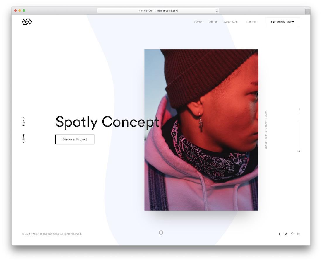 webify unique wordpress theme