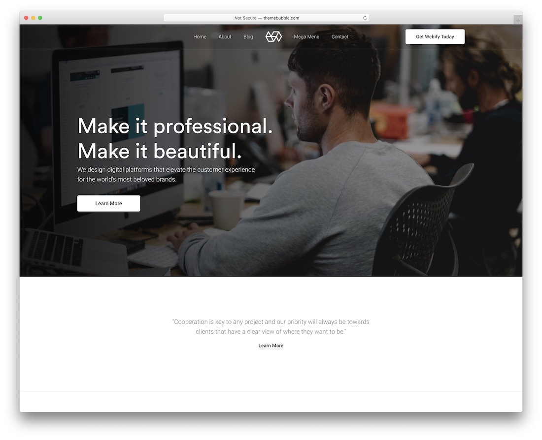 webify virtual assistant website template