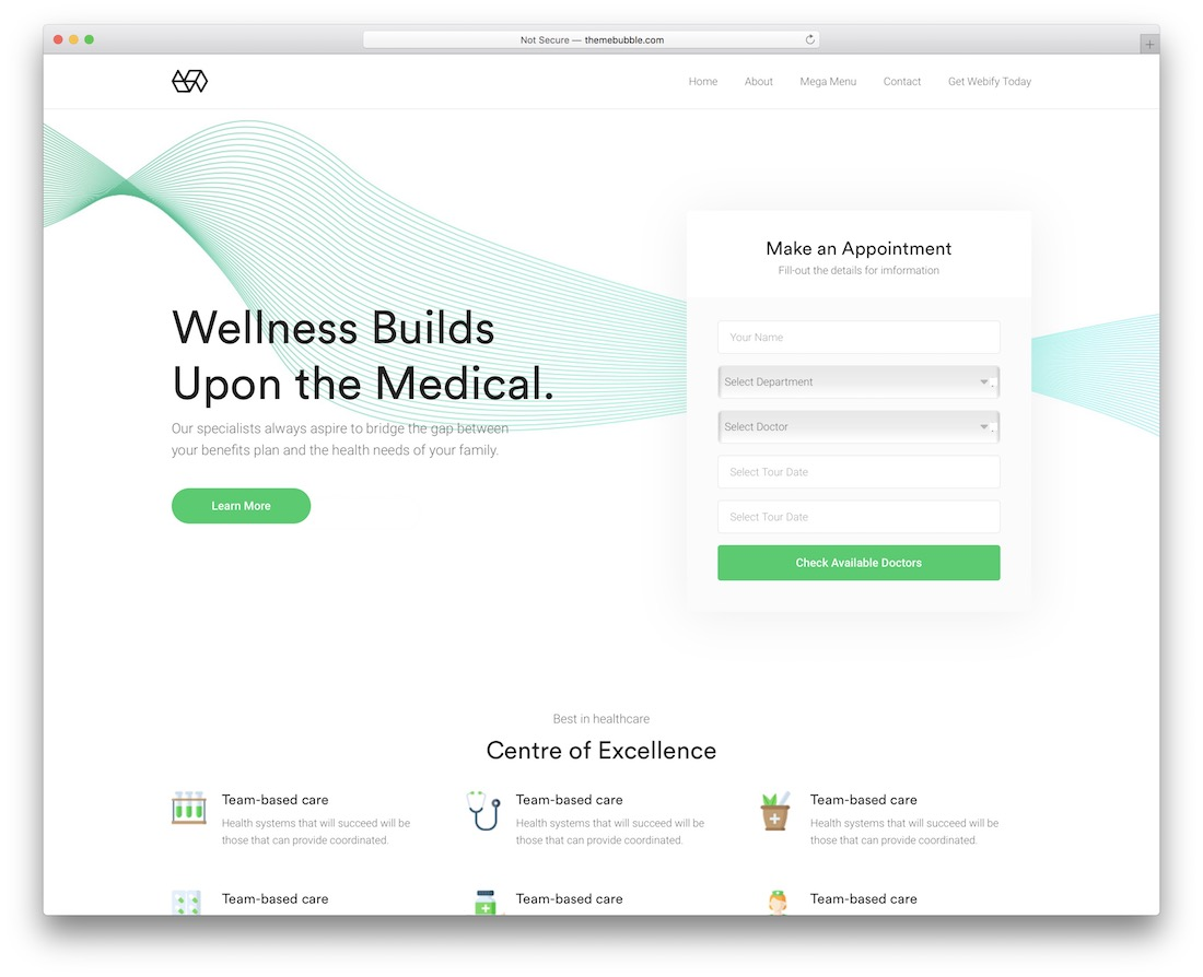 webify wordpress dentist theme with appointment booking
