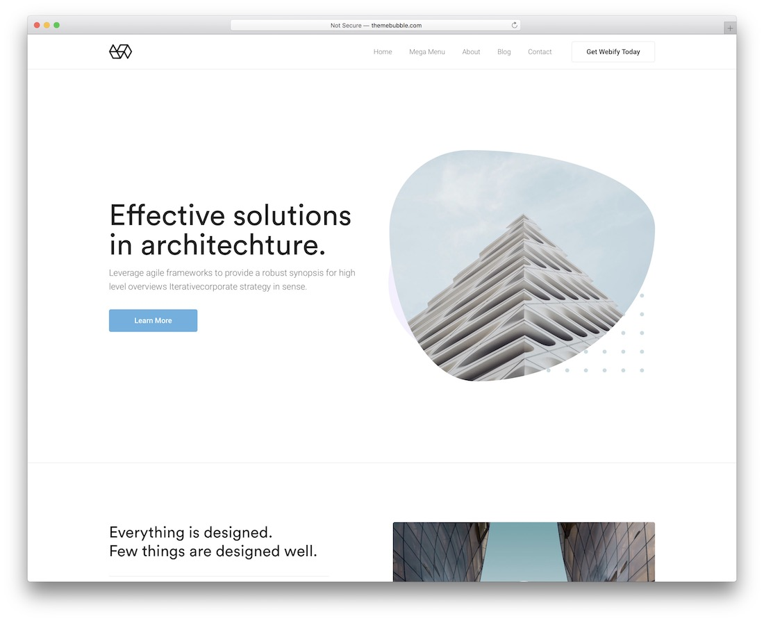 webify wordpress theme for architects