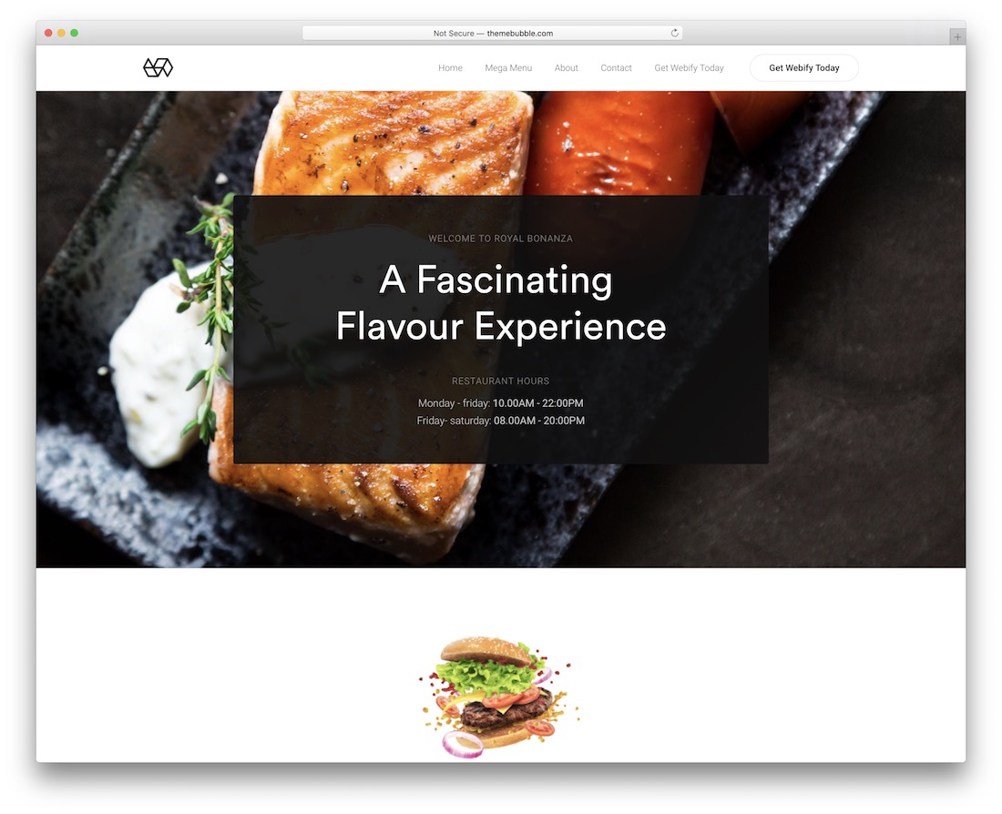 webify wordpress theme for bakeries