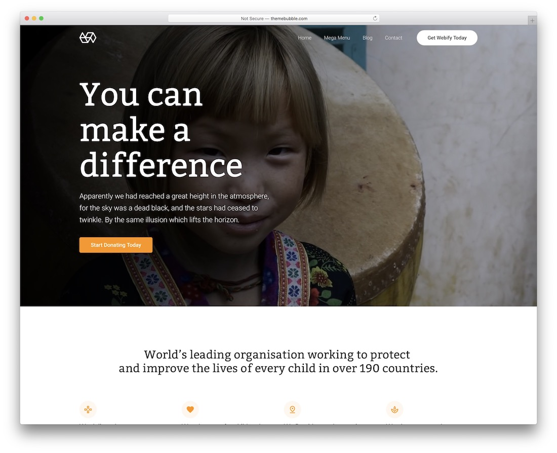 webify wordpress theme for non profit charity organizations
