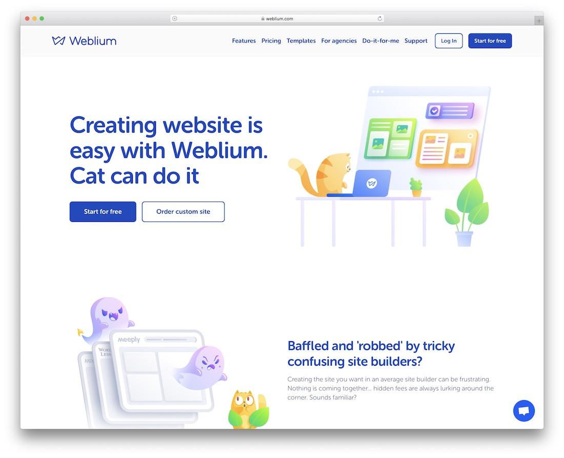 weblium drag and drop website builder