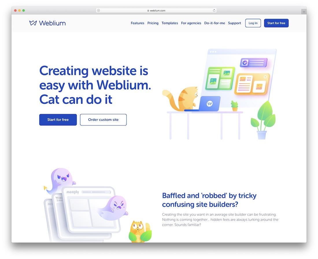 weblium musician website builder