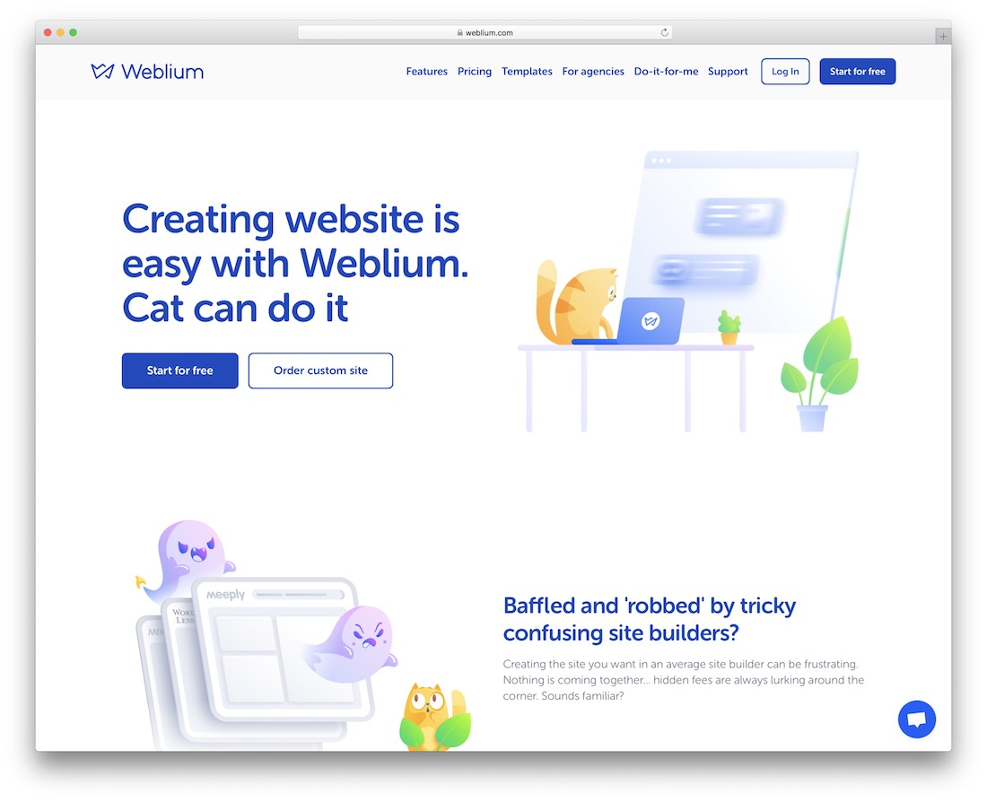 weblium real estate website builder