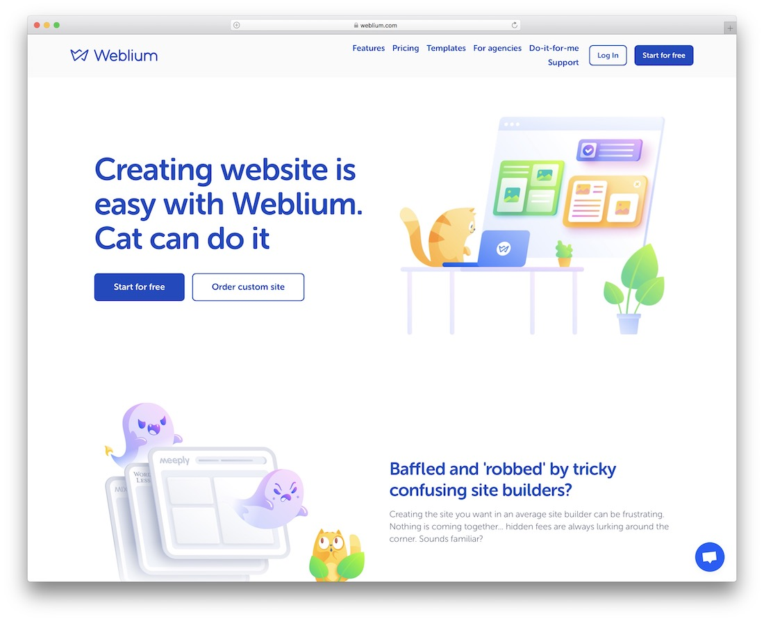 weblium travel agency website builder