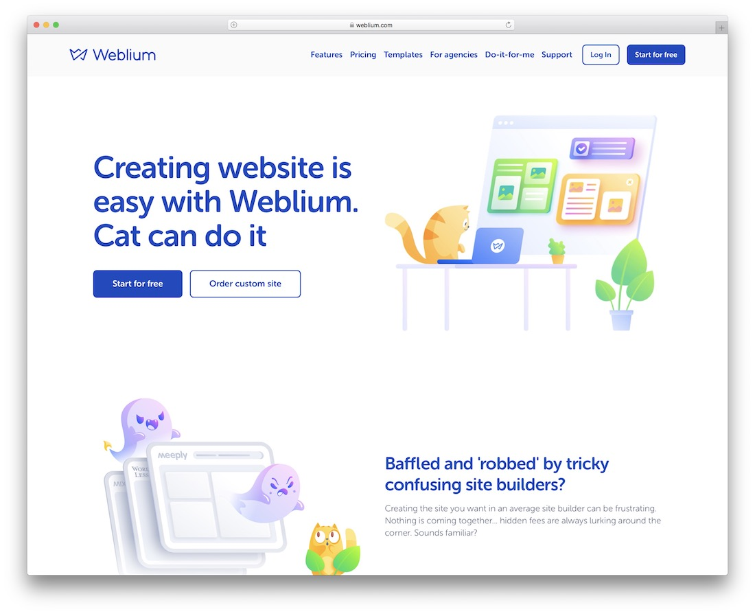 weblium website builder for construction company