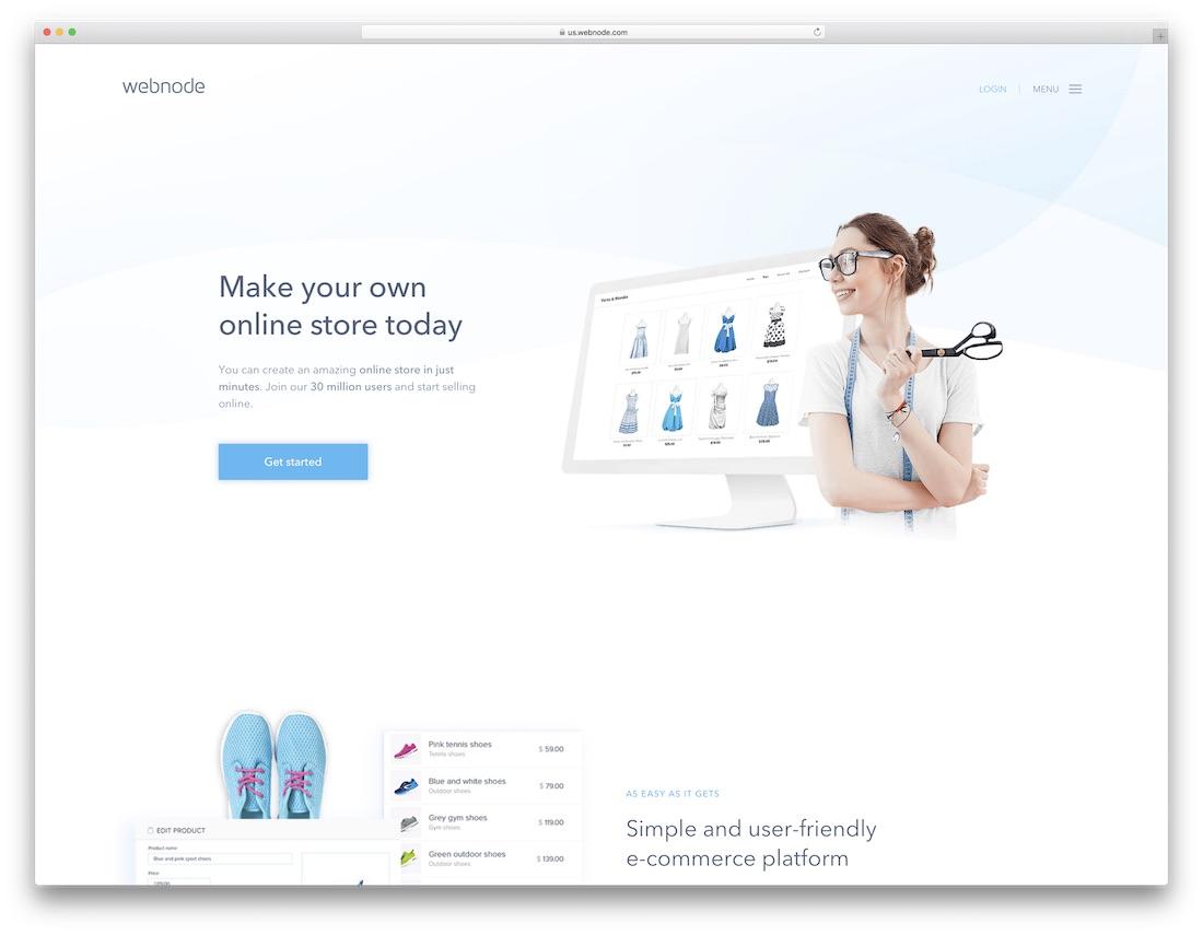 webnode responsive best online store builder