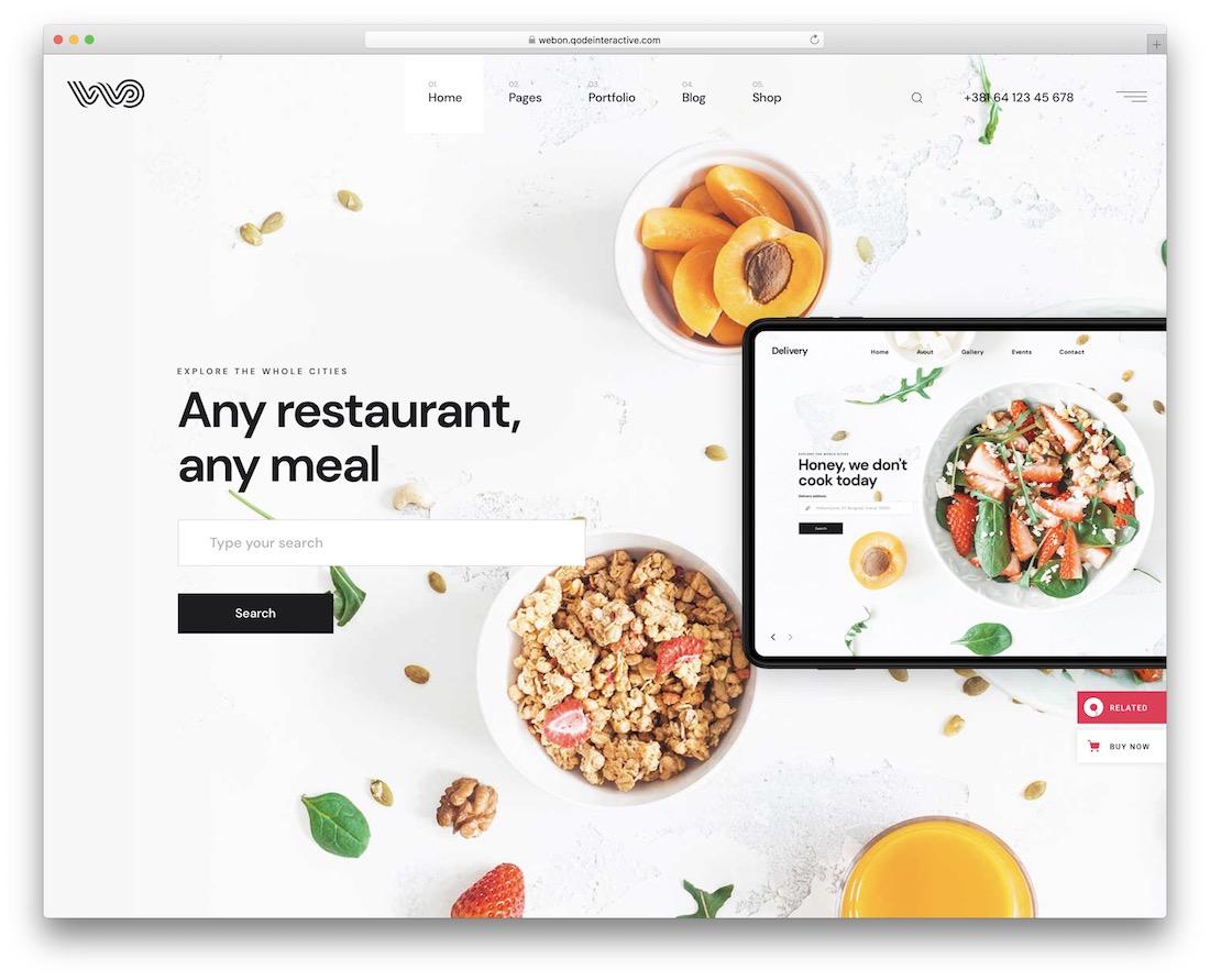 webon food delivery wordpress theme