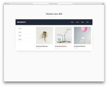 Website Menu 18
