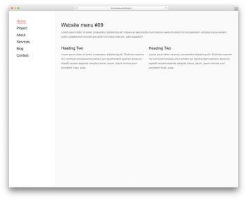 Website Menu 19